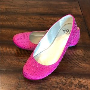 Pink Bedazzled Flats